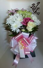 Flowers Delivered with 'I Love You' Acrylic Display (Fresh Flowers)