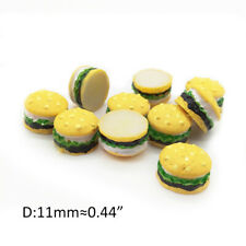 10Pcs Miniature Resin Hamburgers 1:12 Dollhouse Food Accessories SMALL SIZE