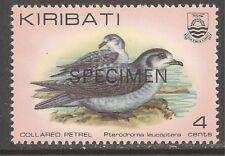 Kiribati #386 (A62) VF MNH - 1982 4c Collared Petrels - Specimen - Birds