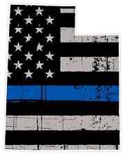 Utah State (V44) Thin Blue Line Vinyl Decal Sticker Car/Truck Laptop Window Cop