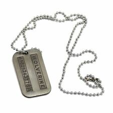 Wolverine X-Men Dog Tag Chain Pendant Army Necklace Logan Cosplay