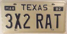 TX vanity 3x2 CARBURATOR HOT RAT CAR license plate Rod Custom Classic Auto Ford
