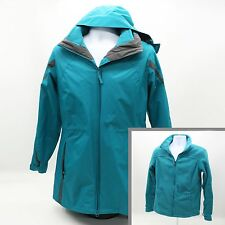 Columbia Interchange Ladies Large Teal 3-in-1 Ski Jacket Coat Removable Liner