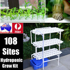 108 Plant Sites Ebb Flow Hydroponic Grow Deep Water Culture Veg Garden System