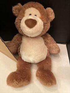 "Gund ALFIE Bear #015314 Chocolate Brown & Cream *EUC* Plush 21"" Tan"