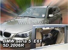 4 Deflettori Aria Antiturbo BMW seria 5 E61 2003-2010 5 porte