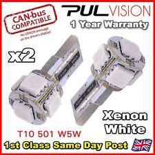 2x 5 SMD LED 501 T10 W5W CANBUS NO ERROR FREE XENON WHITE SIDE LIGHT BULBS 6K 7k