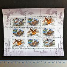 USSR RUSSIA STAMP MNH-OG 1989. FAUNA Wildlife. Ducks. SHEETLET. Canards.