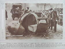 1915 GERMAN MINE & SEARCHLIGHT ON DISPLAY IN LONDON HORSE GUARDS' PARADE WWI WW1