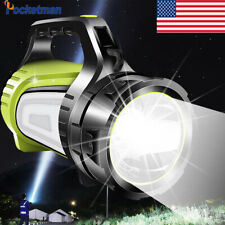 Bright 80000LM LED Searchlight Flashlight USB Rechargeable Spotlight Torch