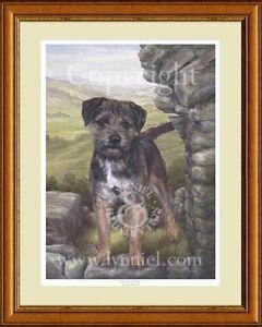 BORDER TERRIER ltd edition dog print 'Border Castle'