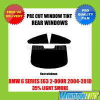 BMW 6 SERIES E63 2-DOOR 2004-2010 35% LIGHT REAR PRE CUT WINDOW TINT