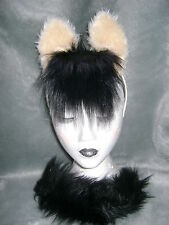 Dunn Pony Horse Foal Ears And Tail Set Faux Fur Animal Fancy Dress Costume New