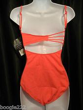 Gilda Dance Camisole Azalea Pink Peach Color Leotard Bra Lined 7133155 LG
