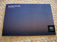 LAND ROVER RANGE ROVER PREVIEW PROMOTIONAL SALES BROCHURE 2013 USA EDITION