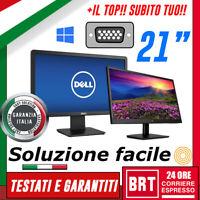 """PC MONITOR SCHERMO LCD 21"""" POLLICI (DELL,LG,HP) DVI VGA DISPLAY_BUONO+BASE 20 22"""