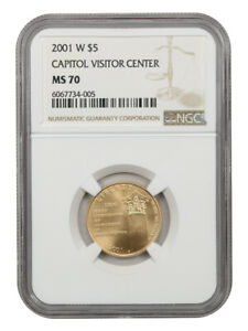2001-W Capitol Visitors Center $5 NGC MS70 - Modern Commemorative Gold