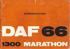 DAF 66 1300 MARATHON Betriebsanleitung 1973 Bedienungsanleitung  Handbuch  BA