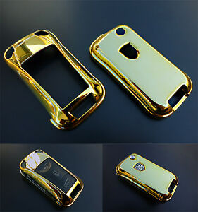 GOLD PORSCHE  Remote Flip Key Cover Case Trim Shell Cap Fob Protection Hull 997-