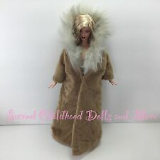 BARBIE DOLL CLOTHES Spirit of the Earth Faux Fur Native American Tan Winter Coat