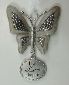 zzz Live love inspire ELEGANT BUTTERFLY ORNAMENT ganz