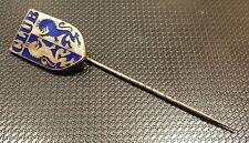 Club Enameled Lapel Pin 12x19mm Stamped Preissler Pforzheim Old + ORIGINAL