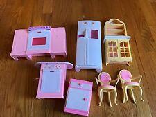 Vintage Barbie Mattel So Much to Do Refrigerator Kitchen Accessories Fridge etc