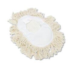 2 of Unisan Wedge Dust Mop Head - Cut End White Cotton Yarn 17 1/2 x 13 1/2