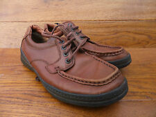 Clarks Mid Tan Extra Wide Active Casual Leather Shoes Size 7 / 40