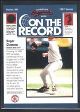 ROGER CLEMENS 2002 DONRUSS ORIGINALS #8 ON THE RECORD RED SOX SP #488/800 $20