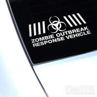 Zombie Outbreak Response Vehicle Funny Car Sticker For Window Bumper, Van Camper