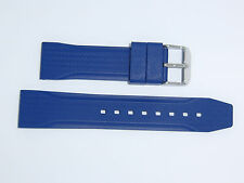 Bonetto Cinturini (Italy) Rubber Watch Band 22 mm , Blue, Model 324