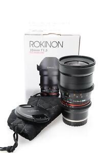 Rokinon 35mm T1.5 AS UMC CINE Lens 35/1.5 Sony E Mount #907