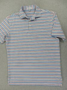 Peter Millar SUMMER COMFORT Striped Polo Shirt (Mens Medium)