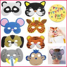 Kids Foam Animal Face Eye Masks Bag Filler Loot Mask Children's Costume Jungle