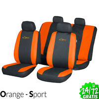 Funda de Asiento Universal Orange protector Asientos 7 pcs Coche transpirable