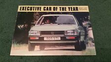 1980 1981 PEUGEOT 505 SALOON EXECUTIVE CAR OF THE YEAR + THE FACTS UK BROCHURE