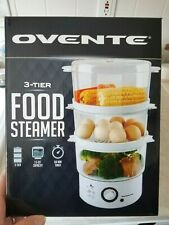 Ovente 3-Tier Electric Steamer Vegetables, eggs, Seafood & Timer 7.5-Quart NEW