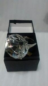 Glass Diamond Engagement Ring Napkin Paperweight Wedding Favor Cake Topper