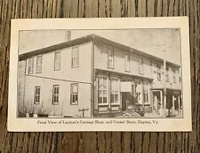 Vintage 1911 Layman's Carriage Shop and Coote's Store Dayton, VA Postcard
