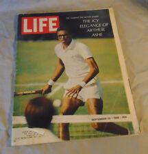 LIFE Magazine September 20, 1968 Arthur Ashe THE BEATLES Estate Fresh