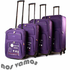 Women's Spinner (4) Wheels Soft Luggage Sets