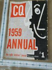 CQ The Radio Amateur's Journal November 1959 Annual