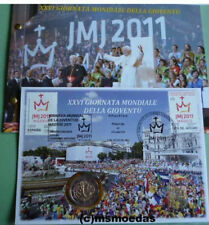 Vatikan 2 Euro 2011 Numisbrief Weltjugendtag Madrid Gedenkmünze Euromünze