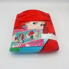 """LITTLE MERMAID ARIEL DISNEY Hooded Bath Towel Wrap 22"""" x 51"""" (57 x 130 cm) NWT"""