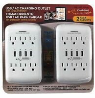 USB/AC Charging Outlet with Surge Protection 2 pack - See Description