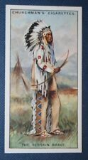 North American Blood Indian Chief    Superb Vintage 1920's Card