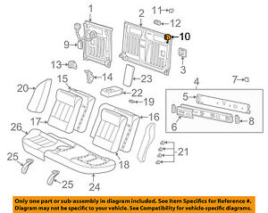 Saturn GM OEM 01-02 LW200 Rear Seat-Latch Assembly Left 90595392