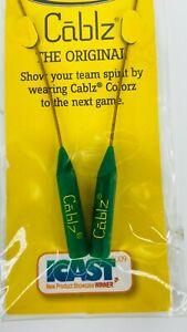 "Cablz Sunglass / Eyeglass Monoz Non-Adjustable Retainer 14"" Green / Gold"