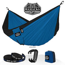 TRAVEL HAMMOCK SET (DARK BLUE-BLACK) HAMACKA